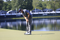 Keegan Bradley (USA) putts on the 14th green during Thursday's Round 1 of the 2017 PGA Championship held at Quail Hollow Golf Club, Charlotte, North Carolina, USA. 10th August 2017.<br /> Picture: Eoin Clarke | Golffile<br /> <br /> <br /> All photos usage must carry mandatory copyright credit (&copy; Golffile | Eoin Clarke)