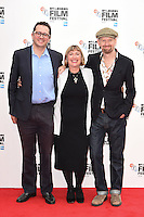 "Jack Arbuthnott, Laura Hastings-Smith and Sean Foley<br /> at the London Film Festival 2016 premiere of ""Mindhorn"" at the Odeon Leicester Square, London.<br /> <br /> <br /> ©Ash Knotek  D3167  09/10/2016"