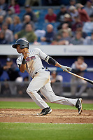 Scranton/Wilkes-Barre RailRiders second baseman Abiatal Avelino (17) follows through on a swing during a game against the Syracuse Chiefs on June 14, 2018 at NBT Bank Stadium in Syracuse, New York.  Scranton/Wilkes-Barre defeated Syracuse 9-5.  (Mike Janes/Four Seam Images)