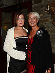 Lynn Ruddy and Tricia Bannon pictured at the Ardee Traders Annual Awards dinner at Darver Castle. Photo:Colin Bell/pressphotos.ie
