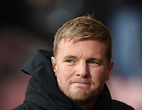 23rd November 2019; Vitality Stadium, Bournemouth, Dorset, England; English Premier League Football, Bournemouth Athletic versus Wolverhampton Wanderers; Eddie Howe Manager of Bournemouth watches his team - Strictly Editorial Use Only. No use with unauthorized audio, video, data, fixture lists, club/league logos or 'live' services. Online in-match use limited to 120 images, no video emulation. No use in betting, games or single club/league/player publications