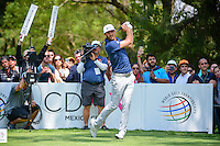 Dustin Johnson (USA) watches his tee shot on 6 during round 4 of the World Golf Championships, Mexico, Club De Golf Chapultepec, Mexico City, Mexico. 3/5/2017.<br /> Picture: Golffile | Ken Murray<br /> <br /> <br /> All photo usage must carry mandatory copyright credit (&copy; Golffile | Ken Murray))