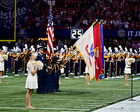 ATLANTA, GA - DECEMBER 7: Color guard during a game between Georgia Bulldogs and LSU Tigers at Mercedes Benz Stadium on December 7, 2019 in Atlanta, Georgia.