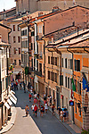 Looking down at via Roma from the castle walls (Castelvecchio Museum)