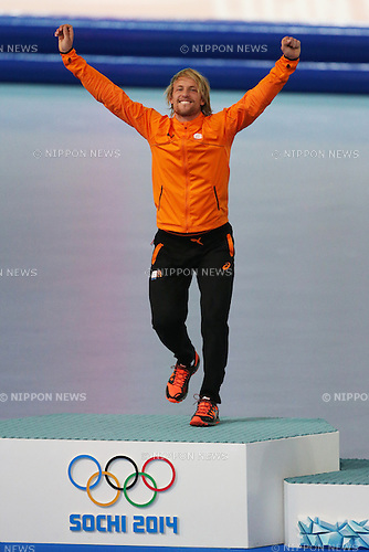 Michel Mulder (NED),<br /> FEBRUARY 10, 2014 - Speed Skating : <br /> Men's 500m <br /> at &quot;ADLER ARENA&quot; Speed Skating Center <br /> during the Sochi 2014 Olympic Winter Games in Sochi, Russia. <br /> (Photo by Koji Aoki/AFLO SPORT) [0008]