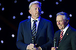 Boris Becker (left) and Gary Player (right) during the Opening Ceremony of the the World Celebrity Pro-Am 2016 Mission Hills China Golf Tournament on 20 October 2016, in Haikou, China. Photo by Victor Fraile / Power Sport Images