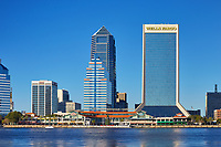 View of the Jacksonville, Florida skyline from across the St. John's river