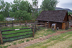 Pioneer Historic Museum, settler's cabin, Golden, Colorado,