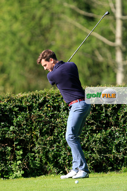 Richard Knightly (Royal Dublin) on the 6th tee during round 2 of The Mullingar Electrical Scratch Trophy in Mullingar Golf Club on Monday 4th August 2014.<br /> Picture:  Thos Caffrey / www.golffile.ie