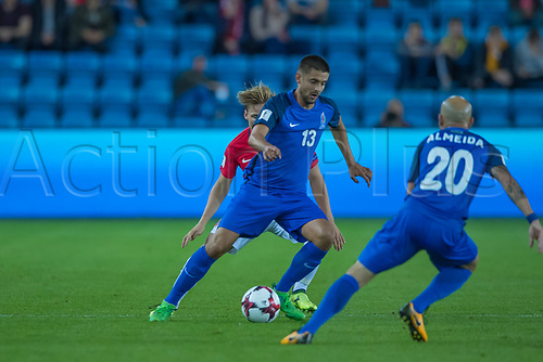 1st September 2017, Ullevaal Stadion, Oslo, Norway; World Cup Qualifier, Group C; Norway versus Azerbaijan;  Dimitrij Nazarov of Azerbaijan  in action during the FIFA World Cup group C qualifier match