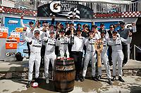 Winners #55 Mazda Team Joest Mazda DPi, DPi: Jonathan Bomarito, Harry Tincknell, Olivier Pla, podium