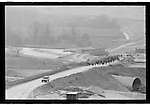 protesters march along the route of the  M3 extension Winchester.  Twyford down