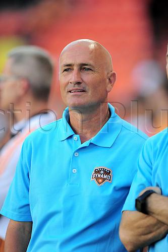 26.07.2014. Houston, Texas, USA.  Houston Dynmao  head coach Dominic Kinnear during 1 - 0 loss to Aston Villa at BBVA Compass Stadium in Houston, TX.