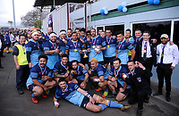 COB celebrates winning the Horowhenua-Kapiti senior reserves club rugby union final between Foxton and College Old Boys at Levin Domain in Levin, New Zealand on Saturday, 28 July 2018. Photo: Dave Lintott / lintottphoto.co.nz