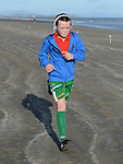 Leon Campbell who ran the 5K run on bettystown Beach in aid of Boomerang Cafe. Photo:Colin Bell/pressphotos.ie