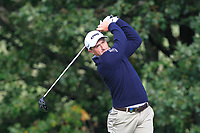 Paul Dunne (IRL) on the 4th tee during Round 2 of the Sky Sports British Masters at Walton Heath Golf Club in Tadworth, Surrey, England on Friday 12th Oct 2018.<br /> Picture:  Thos Caffrey | Golffile<br /> <br /> All photo usage must carry mandatory copyright credit (&copy; Golffile | Thos Caffrey)
