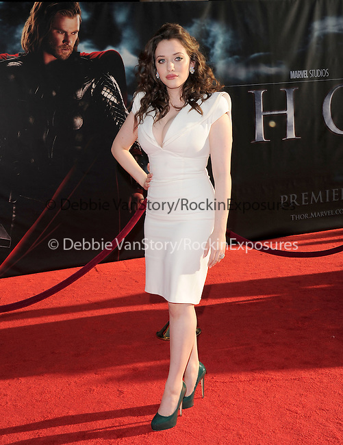 Kat Dennings at The Marvel Studios Premiere of THOR held at The El Capitan Theatre in Hollywod, California on May 02,2011                                                                               © 2010 Hollywood Press Agency
