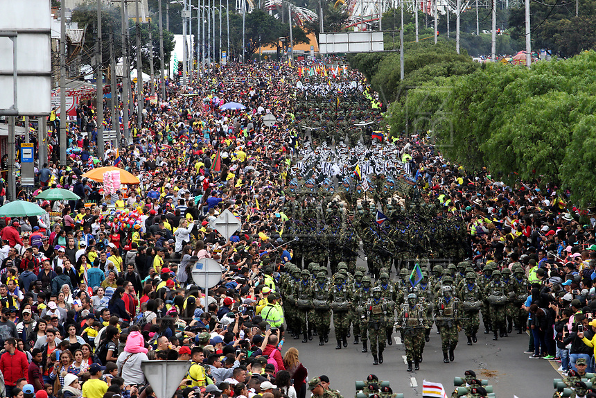 BOGOTÁ - COLOMBIA, 20-07-2018:Ejército Nacional.Desfile Militar por la Avenida 68 de la capital , durante el 208 Aniversario del Día de la Independiencia Nacional ./Military Parade through Avenida 68 in the capital, during the 208th Anniversary of National Independence Day. Photo: VizzorImage / Felipe Caicedo / Satff