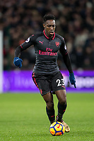 Danny Welbeck of Arsenal during the Premier League match between West Ham United and Arsenal at the Olympic Park, London, England on 13 December 2017. Photo by Andy Rowland.
