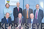 The Castleisland Connection at the official opening of the Kerry County Council offices and KCC Library in Castleisland on Friday front row l-r: Tadgh McGillicuddy Engineer, Bobby O'Connell Kerry Mayor, John O'Connor. Back row: Johnny O'Connor, John Breen, Sean McGillicuddy Arcitect and Martin O'Donoghue.
