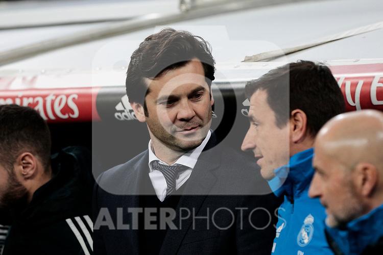 Real Madrid's coach Santiago Solari during Copa Del Rey match between Real Madrid and CD Leganes at Santiago Bernabeu Stadium in Madrid, Spain. January 09, 2019. (ALTERPHOTOS/A. Perez Meca)<br />  (ALTERPHOTOS/A. Perez Meca)