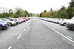 Cars lining both sides of the road on the Tullyesker road    in a temporary carpark after the alocated carparks were flooded during the Irish Open Golf in Baltray.  Shuttle buses were provide to bring people to and from the Event...Photo NEWSFILE/Jenny Matthews.(Photo credit should read Jenny Matthews/NEWSFILE)....This Picture has been sent you under the condtions enclosed by:.Newsfile Ltd..The Studio,.Millmount Abbey,.Drogheda,.Co Meath..Ireland..Tel: +353(0)41-9871240.Fax: +353(0)41-9871260.GSM: +353(0)86-2500958.email: pictures@newsfile.ie.www.newsfile.ie.FTP: 193.120.102.198.