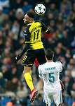 Real Madrid's Raphael Varane (r) and Borussia Dortmund's Pierre-Emerick Aubameyang during Champions League Group H match 6. December 6,2017. (ALTERPHOTOS/Acero)
