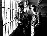 OMD 1981 Orchestral Manoeuvres  Andy McCluskey and Paul Humphreys in Alcatraz