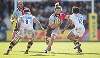 Harlequins' Luke Wallace in action during todays match<br /> <br /> Photographer Bob Bradford/CameraSport<br /> <br /> Aviva Premiership Round 14 - Harlequins v Wasps - Sunday 11th February 2018 - Twickenham Stoop - London<br /> <br /> World Copyright &copy; 2018 CameraSport. All rights reserved. 43 Linden Ave. Countesthorpe. Leicester. England. LE8 5PG - Tel: +44 (0) 116 277 4147 - admin@camerasport.com - www.camerasport.com