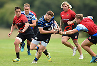 Max Wright of Bath Rugby in action against the visiting Dragons team. Bath Rugby pre-season training on August 8, 2018 at Farleigh House in Bath, England. Photo by: Patrick Khachfe / Onside Images