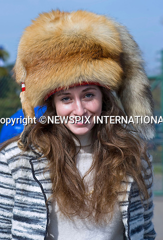 """Suzie Dowty.wearing her bespoke foxes hats.St Patrick's Day at the Cheltenham Festival 2011 which celebrates its Centenary today, Cheltenham__17/03/2011.Mandatory Credit Photo: ©DIAS-NEWSPIX INTERNATIONAL..**ALL FEES PAYABLE TO: """"NEWSPIX INTERNATIONAL""""**..IMMEDIATE CONFIRMATION OF USAGE REQUIRED:.Newspix International, 31 Chinnery Hill, Bishop's Stortford, ENGLAND CM23 3PS.Tel:+441279 324672  ; Fax: +441279656877.Mobile:  07775681153.e-mail: info@newspixinternational.co.uk"""