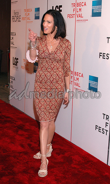 "24 April 2005 - New York, New York - Actress Tia Texada teases photographers as she arrives at the premiere of the film, ""Fierce People"", part of the Tribeca Film Festival in downtown Manhattan.  Photo Credit: Patti Ouderkirk/AdMedia"