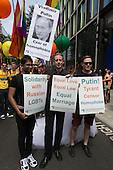 "Pride London 2013 parade gets under way with the motto ""love (and marriage)""."