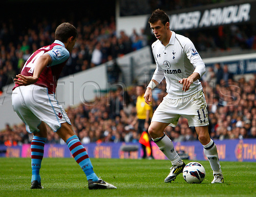 07.10.2012. North London, England. ..Gareth Bale of Tottenham  Hotspur..Barclays Premier League. Tottenham Hotspur versus Aston Villa..at White Hart Lane.  Tottenham won the game by a score of 2-0 with goals from Caulker and Lennon.