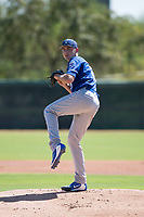 Kansas City Royals starting pitcher Zach Haake (26) delivers a pitch during an Instructional League game against the Chicago White Sox at Camelback Ranch on September 25, 2018 in Glendale, Arizona. (Zachary Lucy/Four Seam Images)