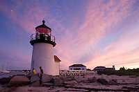Brant Point lighthouse sunset, Nantucket, MA