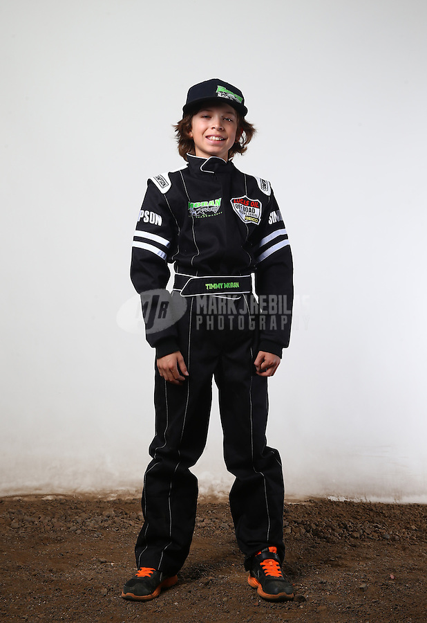 Mar. 21, 2014; Chandler, AZ, USA; LOORRS junior 2 driver Timmy Moran poses for a portrait prior to round one at Wild Horse Motorsports Park. Mandatory Credit: Mark J. Rebilas-USA TODAY Sports