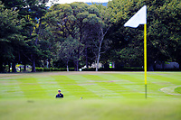 Trevor Marshall plays an approach shot to the 10th green. Day two of the Jennian Homes Charles Tour / Brian Green Property Group New Zealand Super 6's at Manawatu Golf Club in Palmerston North, New Zealand on Friday, 6 March 2020. Photo: Dave Lintott / lintottphoto.co.nz
