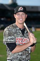 Arkansas Travelers second baseman Alex Yarbrough (7) poses for a photo before a game against the San Antonio Missions on May 25, 2014 at Dickey-Stephens Park in Little Rock, Arkansas.  Arkansas defeated San Antonio 3-1.  (Mike Janes/Four Seam Images)