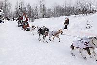 Ryne Olson Saturday, March 3, 2012  Ceremonial Start of Iditarod 2012 in Anchorage, Alaska.