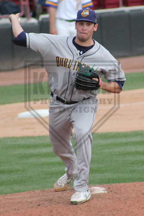 APPLETON - MAY 2011: Zach Thornton (30) of the Burlington Bees, Class-A affiliate of the Oakland A's, during a game on May 22, 2011 at Fox Cities Stadium in Appleton, Wisconsin. (Photo by Brad Krause) ........