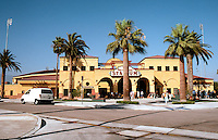 "Ballparks: San Bernardino ""The Ranch"" facade. Opened 1996, visited 1999."