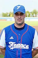 08 September 2012: Christian Chenard poses at the 2012 European Championship, in Rotterdam, Netherlands.