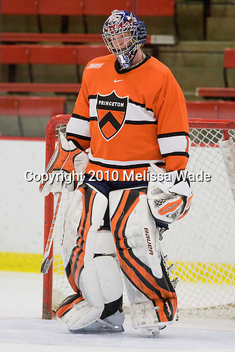 Mike Condon (Princeton - 1) - The Princeton University Tigers defeated the Harvard University Crimson 2-1 on Friday, January 29, 2010, at Bright Hockey Center in Cambridge, Massachusetts.