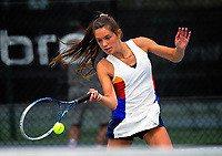Georgia Kingi. 2017 Wellington Open tennis championship at Renouf Tennis Centre in Wellington, New Zealand on Tuesday, 19 December 2017. Photo: Dave Lintott / lintottphoto.co.nz