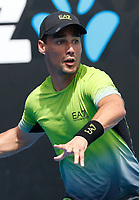 15th January 2019, Melbourne Park, Melbourne, Australia; Australian Open Tennis, day 2; Fabio Fognini of Italy returns the ball during a match against Jaume Munar of Spain