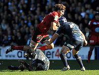 Cardiff, Wales. Juan Fernandez Lobbe of Toulon in action during the Heineken Cup Match between Cardiff Blues and Toulon at The Arms Park on October 21, 2012 in Cardiff, Wales
