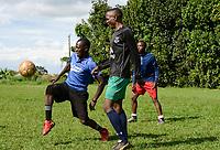 UGANDA, Kampala, National Seminary Ggaba, young seminarians play soccer