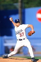 Darren Dreifort of the Los Angeles Dodgers during a game at Dodger Stadium circa 1999 in Los Angeles, California. (Larry Goren/Four Seam Images)