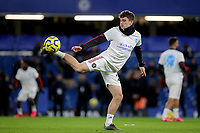 Daniel James of Manchester United warms up ahead of kick-off during Chelsea vs Manchester United, Premier League Football at Stamford Bridge on 17th February 2020
